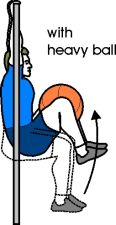 Hanging Knee Raises with Ball