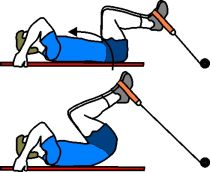 Lower Pulley Reverse Crunches
