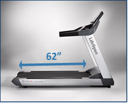 Lifespan Tr7000i Treadmill Side