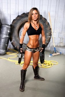 ripped abs, women abs