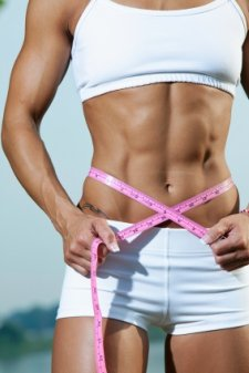 ripped abs, female six pack