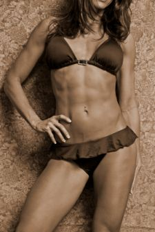 female six pack abs, girl abs