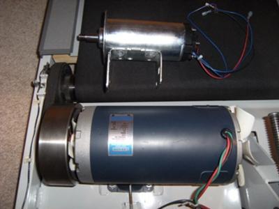Leeson motor beside Nordic Track motor
