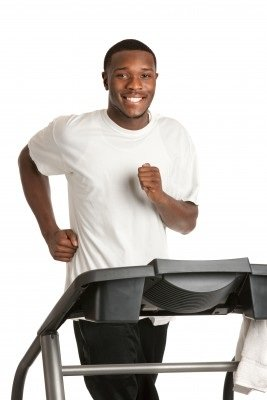 Man Doing Treadmill Workouts