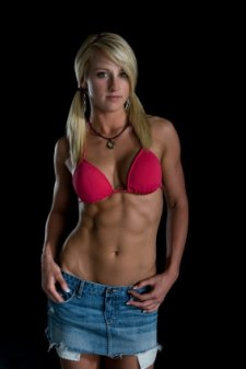 ripped abs, girl abs